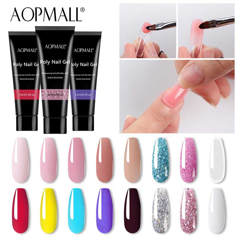 AOPMALL 15ml Colorful Extension Poly Gel