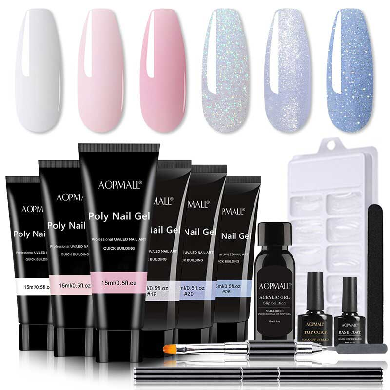 AOPMALL 6 light-color polygel nail extens