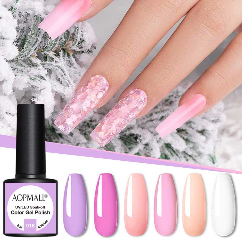 AOPMALL Pink Series Gel Manicure Best UV
