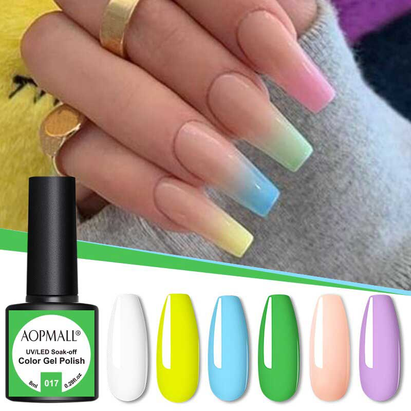 AOPMALL Neon Summer Perfect Match UV Nail