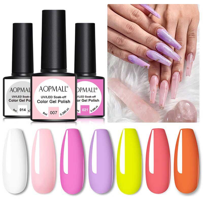 AOPMALL Purple UV Light Nail Polish