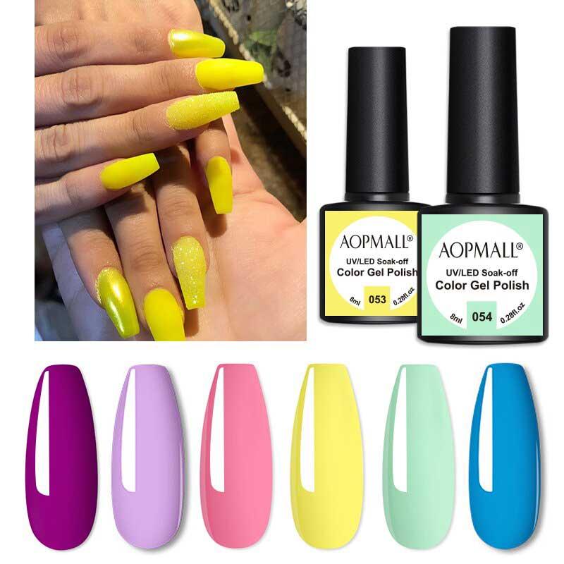 AOPMALL Yellow Clear UV Gel Nail Polish