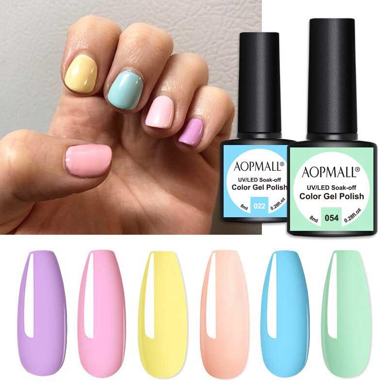 AOPMALL Neon Gel Polish Nail Art