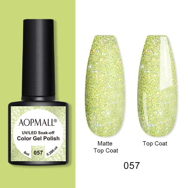 AOPMALL Gold Glitter Gel Polish