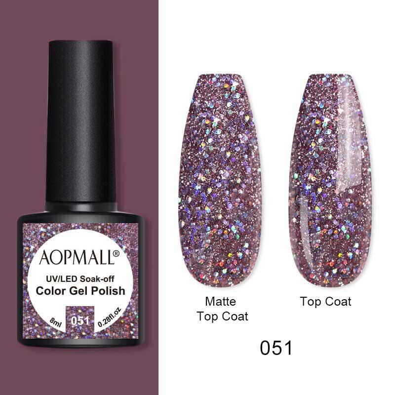 AOPMALL Best Glitter Gel Polish