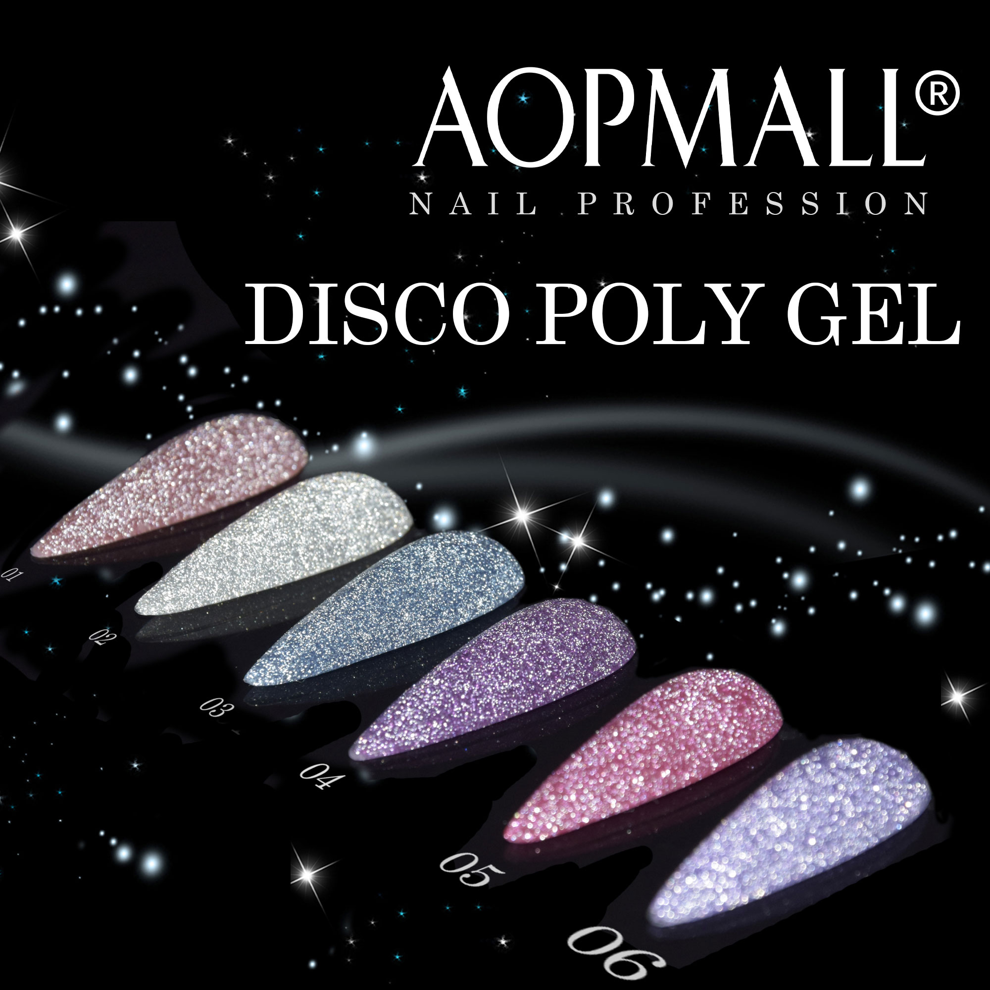 AOPMALL Disco Poly Gel
